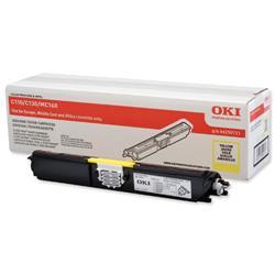 OKI Laser Toner Cartridge High Yield Page Life 2500pp Yellow Ref 44250721