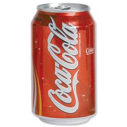 Coca Cola Coke Soft Drink Can 330ml Ref A00768 - Pack 24 - Coke24