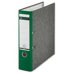 Leitz Standard Lever Arch File 80mm Spine A4 Green Ref 1080-55 [Pack 10]