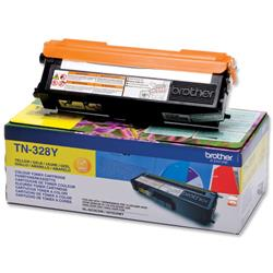 Brother TN-328Y Yellow Laser Toner Cartridge Ref TN328Y