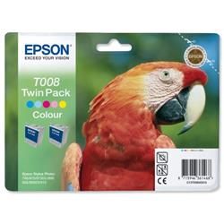 Epson Inkjet Cartridge Twinpack Colour Ref C13T008403