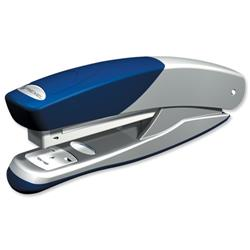 Rexel Stapler Torador Full Strip Metal Stapler Silver-Blue Ref 2101203