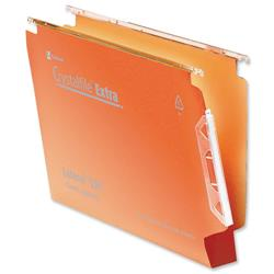 Rexel Crystalfile Extra Lateral File Polypropylene W330mm 30mm Base Orange Ref 300125 [Pack 25]