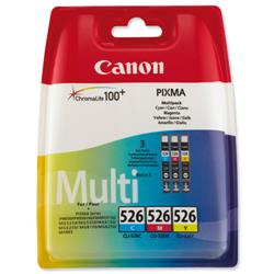 Canon CLI-526 Inkjet Cartridge Page Life 1349pp Cyan/Magenta/Yellow Ref 4541B006 - Pack 3