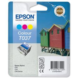Epson T0370 Inkjet Cartridge Beach Huts Page Life 180pp Colour Ref C13T03704010