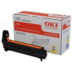 OKI Laser Drum Unit Page Life 20000pp Yellow Ref 44318505