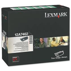 Lexmark T630/T632/T634 21k Black Return Program Laser Toner Cartridge Ref 0012A7462