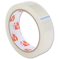 5 Star Office Clear Tape Roll Large Easy-tear Polypropylene 40 Microns 25mm x 66m