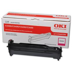 OKI Magenta Laser Image Drum Unit for C3300/C3400 Colour Printers Ref 43460206