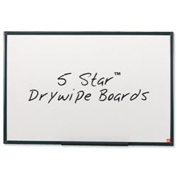 5 Star Office Drywipe Board Lightweight with Fixing Kit and Detachable Pen Tray W1800xH1200mm