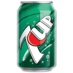 7UP Regular Soft Drink Can 330ml Ref 203388 [Pack 24]
