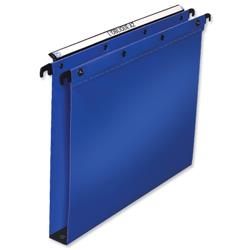 Elba Ultimate Suspension File Polypropylene 30mm Foolscap Blue Ref 100330371 [Pack 25]