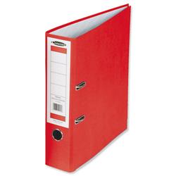 Concord Classic Lever Arch File Printed Lining Capacity 70mm A4 Red Ref C214041 - Pack 10