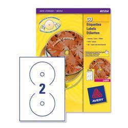Avery L7676 Laser CD Labels 117mm Dia.Ref L7676-100 - 100 Sheets