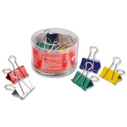 5 Star Office Foldback Clips 41mm Assorted [Pack 12]