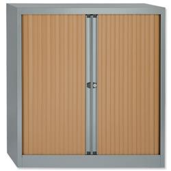 Bisley A4 EuroTambour Including 1 Shelf W1000xD470xH1000-1015mm Beech Shutters Ref WTB1010/1S.BC
