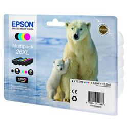 Epson T2636 Inkjet Cartridge Capacity 41.3ml Black/Cyan/Magenta/Yellow Ref C13T26364010 - Pack 4