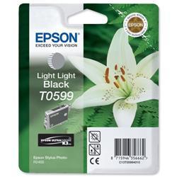 Epson T0599 Inkjet Cartridge Lilly Light Light Black Ref C13T05994010