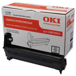 OKI Laser Drum Unit Page Life 20000pp Black Ref 43870024