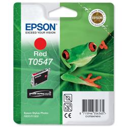 Epson T0547 Inkjet Cartridge Frog Page Life 400pp Red Ref C13T05474010