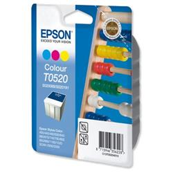Epson T0520 Inkjet Cartridge Abacus Page Life 300pp Colour Ref C13T05204010