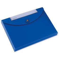 Rexel Optima Job Box Polypropylene 40mm Capacity A4 Blue Ref 2102482