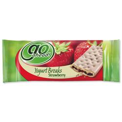 GoAhead Strawberry Yogurt Biscuit Bar Ref A07455 - Pack 24