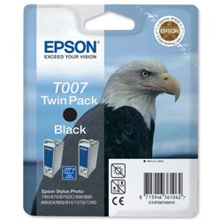 Epson T007 Inkjet Cartridge Intellidge Eagle Page Life 540pp Black Ref C13T00740210