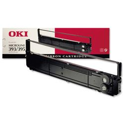 OKI Black Nylon Fabric Ribbon Cassette for ML-393 & ML-395 Ref 09002311