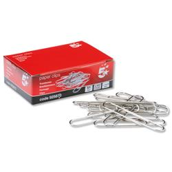 5 Star Office Giant Paperclips Plain Length 51mm [Pack 100]