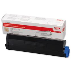 OKI Laser Toner Cartridge High Yield Page Life 7000pp Black Ref 43502002