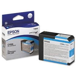 Epson T5802 Inkjet Cartridge Capacity 80ml Cyan Ref C13T580200