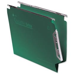 Rexel Crystalfile Extra Lateral File Polypropylene W330mm V-base Green Ref 300121 [Pack 25]