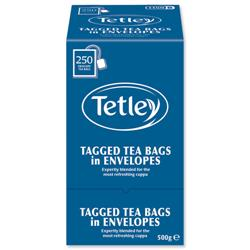 Tetley Tea Bags Tagged in Envelope High Quality Ref 1159B - Pack 250