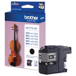 Brother Inkjet Cartridge Page Life 1200pp Black Ref LC127XLBK