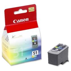 Canon CL-51 High Yield Colour Inkjet Cartridge CL51 Ref 0618B001