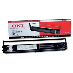 OKI ML-3410 Black Fabric Ribbon Cassette Ref 09002308