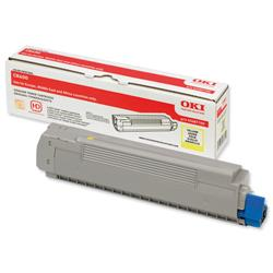OKI Yellow Laser Toner Cartridge for C8600/C8800 Printers Ref 43487709