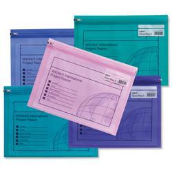 Snopake Zippa Bag Plastic Folder Zip Pull Flexible A5 Assorted Ref 14135 - Pack 25