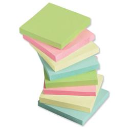 5 Star Office Re-Move Notes Repositionable Pastel Pad of 100 Sheets 76x76mm Assorted [Pack 12]