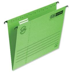 Elba Verticfile Ultimate Suspension File Manilla 240gsm A4 Green Ref 100331150 [Pack 25]