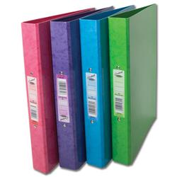 Concord Contrast Ring Binder Laminated 2 O-Ring Capacity 25mm A4 Assorted Ref 82203 [Pack 10]