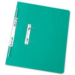 Elba Boston Spiral Transfer Spring File 320gsm Foolscap Green Ref 100090036 [Pack 25]
