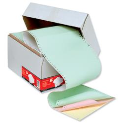 5 Star Office Listing Paper 4-Part Carbonless Perf 55/50/50/55gsm 11inchx241mm Plain 4 Col [500 Sheets]