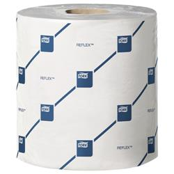 Tork Reflex Mini Wiper Roll 2-Ply 200 Sheets White Ref 578843 [Pack 9]