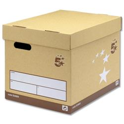 5 Star Elite Superstrong Archive Storage Box Foolscap Sand [Pack 10]