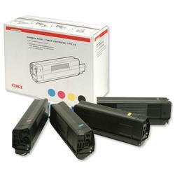 OKI Rainbow Laser Toner Cartridge Pack for C5100/C5200/C5300/C5400 Ref 42403002 [Pack 4]