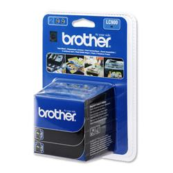 Brother LC900BK Black Inkjet Cartridge Ref LC900BKBP2 - Pack 2
