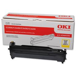 OKI Yellow Laser Image Drum Unit for C3300/C3400 Colour Printers Ref 43460205