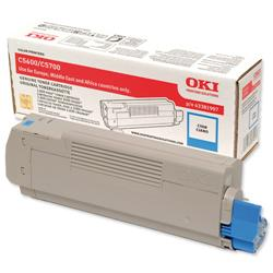 OKI Cyan Laser Toner Cartridge for C5600/C5700 Ref 43381907